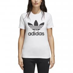 Adidas Womens Trefoil Tee White / Black