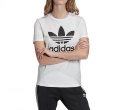 Adidas Womens Trefoil Tee White / Black