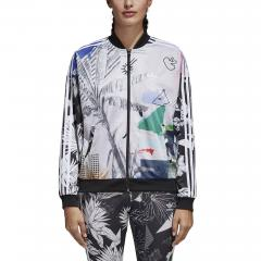 Adidas Womens Oversized Track Jacket Multicolor