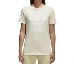 Adidas Womens Trefoil Tee Mist Sun / White