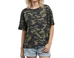Volcom Womens Throw Shade Tee Dark Camo