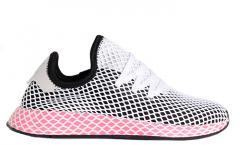 Adidas Womens Deerupt Runner Core Black / Chalk Pink