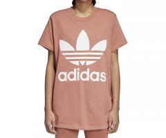 Adidas Womens Trefoil Oversize Tee Ash Pink