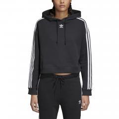 Adidas Womens Cropped Hoodie Black