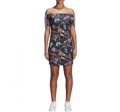 Adidas Womens Poisonous Garden No-Shoulder Dress
