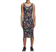 Adidas Womens Poisonous Garden Slim Tank Dress