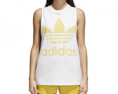 Adidas Womens Trefoil Tank Top White / Sand