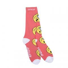 RIPNDIP Everything Will Be OK Socks Salmon