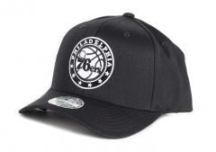 Mitchell & Ness Black & White 110 Snapback Philadelphia 76ers