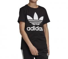 Adidas Youth Trefoil Tee Black / White