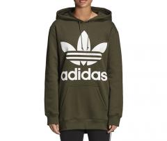 Adidas Originals Womens Oversized Trefoil Hoodie Night Cargo