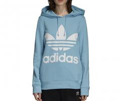 Adidas Womens Trefoil Hoodie Clear Blue