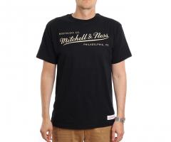 Mitchell & Ness Box Logo Tailored Tee Black