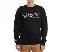 Mitchell & Ness Box Logo Crew Black