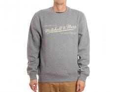 Mitchell & Ness Box Logo Crew Grey