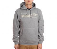 Mitchell & Ness Box Logo Hoodie Grey