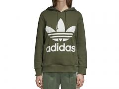 Adidas Womens Trefoil Hoodie Base Green