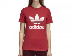 Adidas Womens Trefoil Tee Real Red
