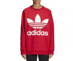 Adidas Womens Oversize Sweatshirt Real Red