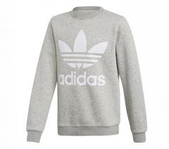 Adidas Junior Fleece Crew Sweatshirt Medium Grey Heather