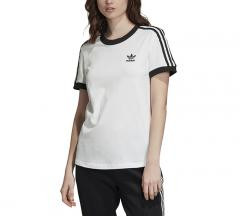 Adidas Womens 3 Stripes Tee White / Black