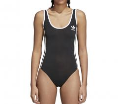 Adidas Womens 3 Stripes Bodysuit Black