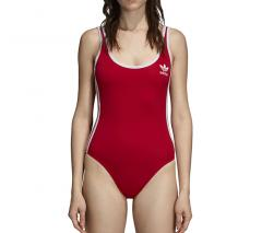 Adidas Womens 3 Stripes Bodysuit Real Red