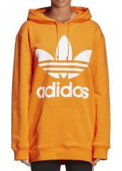 Adidas Womens Oversize Trefoil Hoodie Bahia Orange