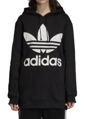 Adidas Womens Oversize Trefoil Hoodie Black