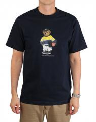 Free Pizza After Work Tee Navy