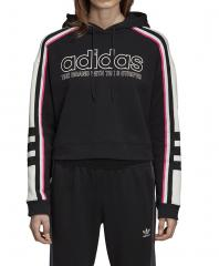 Adidas Womens Hooded Sweatshirt Black