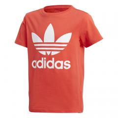 Adidas Junior Trefoil Tee Bright Red / White