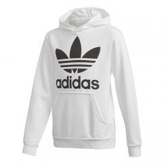 Adidas Junior Trefoil Hoodie White / Black