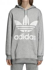 Adidas Womens Oversize Trefoil Hoodie Medium Grey Heather