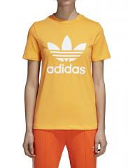 Adidas Womens Trefoil Tee Real Gold