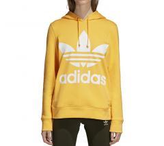 Adidas Womens Trefoil Hoodie Chalk Orange
