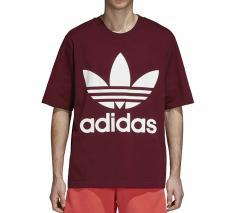 Adidas Originals Oversize Trefoil Tee Collegiate Burgundy
