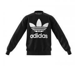 Adidas Junior Fleece Crew Sweatshirt Black / White