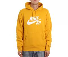 Nike SB Icon Hoodie Yellow Ochre / White