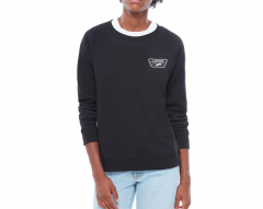 Vans Womens Full Patch Raglan Crew Sweater Black
