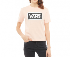 Vans Womens Boom Boom Boxy Tee Rose Cloud