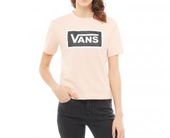 Vans Womens Boom Boom Boxy Tee Rose Cloud
