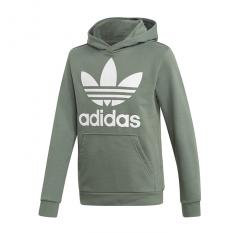 Adidas Junior Trefoil Hoodie Trace Green / White