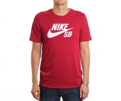 Nike SB Logo Tee Red Crush / White