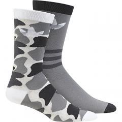 Adidas Trefoil Crew Socks 2-Pack Camo / White