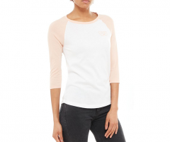 Vans Womens Full Patch Raglan White / Rose Cloud