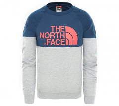 The North Face Youth Easy Longsleeve Tee Blue Wing Teal