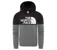 The North Face Youth Drew Peak Raglan Hoodie Black ab2d1136fd