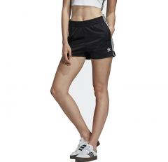 Adidas Womens 3 Stripes Shorts Black