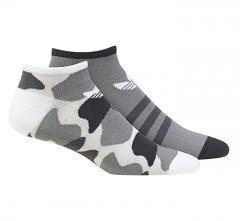 Adidas Trefoil Liner 2-Pack Socks Camo / White